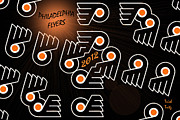Hockey Prints - Bleeding Orange and Black - Flyers Print by Trish Tritz