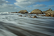 Blegberry Beach Devon Print by Pete Hemington