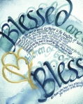 Uplifting Mixed Media Prints - Blessed Print by Amanda Patrick