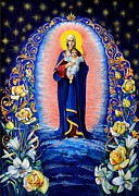 Russian Icon Painting Posters - Blessed Heaven Poster by Natalia Lvova
