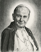 Paul Drawings - Blessed JP2 by Jeanne Beutler
