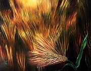 Bread Paintings - Blessed Seeds Collection - Fields of Gold by E Luiza Picciano