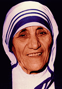 Blessed Teresa Of Calcutta Print by Li   van Saathoff