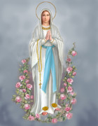 Blessed Virgin Mary Posters - Blessed Virgin Poster by Valerian Ruppert