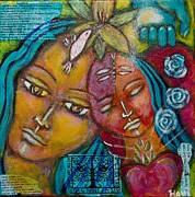 Sacred Feminine Paintings - Blessing by Havi Mandell