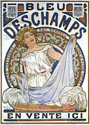 Hair-washing Digital Art Posters - Bleu Deschamps Poster by Nomad Art And  Design