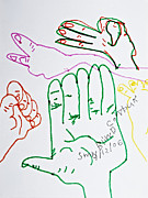 Sign Language Drawings - Blind Coutoure by Stephanie Ward