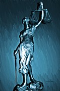 Impartiality Acrylic Prints - Blind Justice  Acrylic Print by Chris Berry