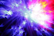Purple Fireworks Prints - Blinded by the Light Print by Dazzle Zazz