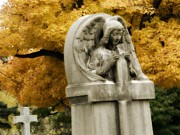 Graveyard Digital Art - Blissful Angel by Gothicolors And Crows