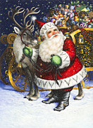 Santa Metal Prints - Blitzen Metal Print by Lynn Bywaters