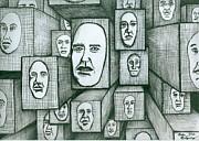 Block Head Print by Richie Montgomery