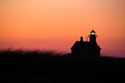 Rhode Island Posters - Block Island North Lighthouse Poster by Diane Diederich