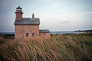 New England Coast  Prints - Block Island North West Lighthouse Print by Skip Willits