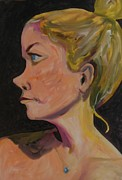 Live Painting Originals - Blond Intensity by Esther Newman-Cohen