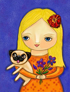 Cynthia Snyder - Blonde Girl with Pug