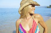Featured Prints - Blonde Woman in Hawaii Print by Kicka Witte