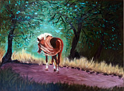Salt River Wild Horses Paintings - Blondie by Cheryl Newbanks