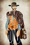 Clint Eastwood Art Framed Prints - Blondie Poster from The Good the Bad and the Ugly Framed Print by Ayse T Werner