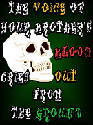 Social Violence Posters - Blood Cries Out Poster by Social Justice Ink
