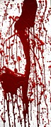 Creepy Mixed Media Originals - Blood Splatter II by Holly Anderson
