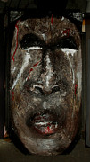 Face Sculpture Posters - Blood sweat and tears Poster by Cheryl Riley