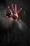 Nightmare Man Prints - Bloody Hand Print by Jt PhotoDesign
