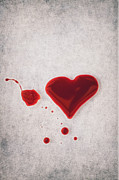 Liquid Posters - Bloody Heart Poster by Joana Kruse