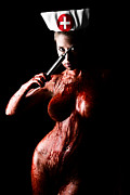 Mental Hospital Art - Bloody Nurse 2 by Jt PhotoDesign