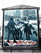 Irish Republican Army Framed Prints - Bloody Sunday Mural Framed Print by Nina Ficur Feenan