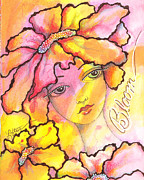 Little Girls Mixed Media - Bloom by Joann Loftus