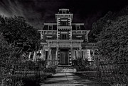 Scary Mansion Framed Prints - Bloom mansion Framed Print by Jeff Niederstadt