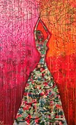 Featured Mixed Media Originals - Bloom of Life by Katy Shahandeh