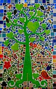Mosaic Glass Art Posters - Bloom Where God Plants You Poster by Caroline Street