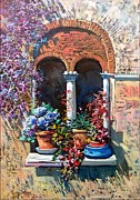 Giuseppe Landi - Bloomed old window 35x50