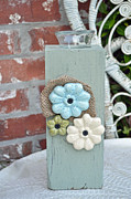 Blue Flowers Ceramics - Bloomers by Amanda  Sanford