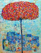 ANA MARIA EDULESCU - BLOOMING BEYOND KNOWN SKIES - THE TREE OF LIFE - ABSTRACT CONTEMPORARY ORIGINAL OIL PAINTING