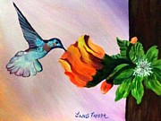 Fantasy Tree Art Paintings - Blooming Epiphyte by Janis  Tafoya