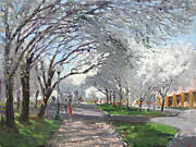 Blooming Trees Posters - Blooming in Niagara Park Poster by Ylli Haruni