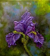 Color Reliefs Originals - Blooming Iris by Joyce Fostini