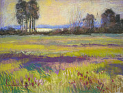 Abstract Landscape Pastels - Blooming Meadow I by Dorothy Fagan