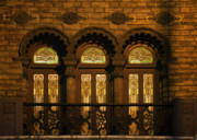 Stained Glass Acrylic Prints - Bloomingdales at Home in Chicagos Medinah Temple Acrylic Print by Christine Till