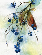 Indiana Art Painting Prints - Bloomington Indiana Berries Print by John Christopher Bradley