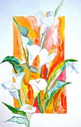 Painterly Painting Prints - Blooms Beyond Borders Print by Debi Pople