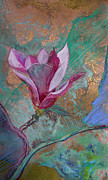 Stillife Mixed Media - Blossom 2 Left by Dayton Claudio