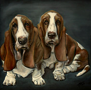 Paws Paintings - Blossom and Biscuit by Michelle Iglesias
