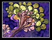 Gouache Digital Art - Blossom of Spring    Purple by Cathy Peterson