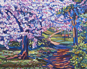 Most Popular Paintings - Blossom Season - Plein Air by David Lloyd Glover