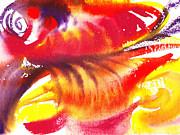Irina Sztukowski - Blossoming Flames Abstract