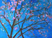 Cherry Blossoms Paintings - Blossoms 1 by Edward Ching